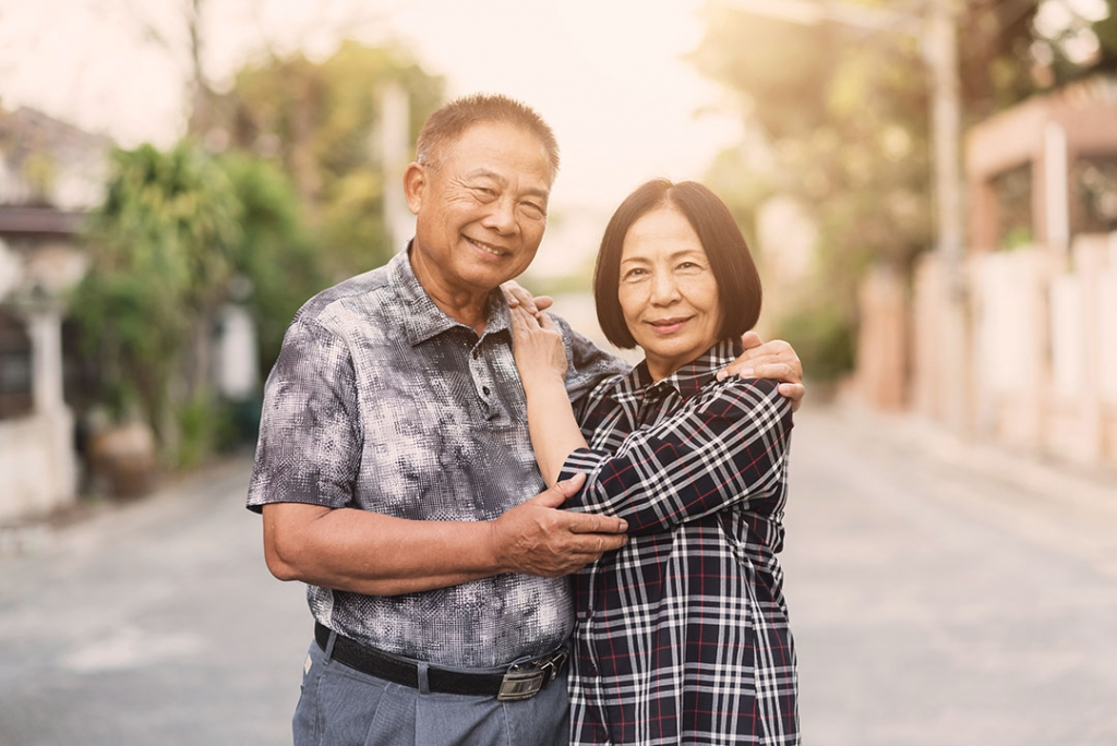 Older Asian Singaporean Couple